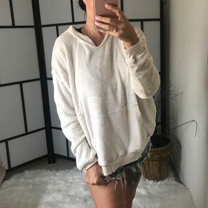 Tops - TENLEY Velvet Pullover Hoodie with Front Pocket